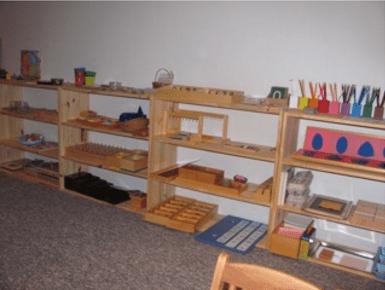Montessori classroom at home