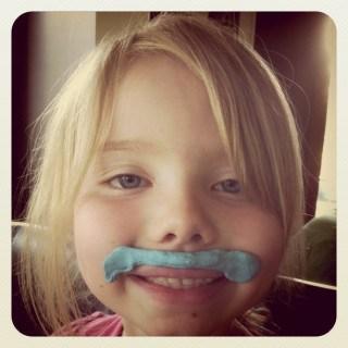 Wordless Wednesday ~ Mrs. Mustache (Linky too)