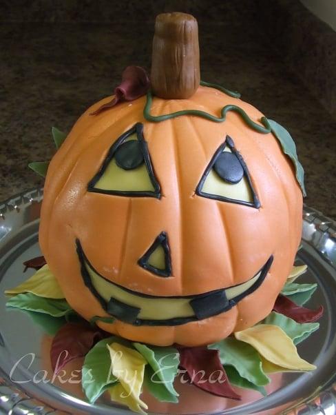 A Jack-O-Lantern Cake