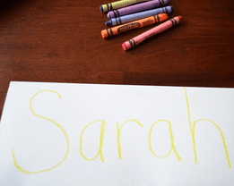 Writing Fun with a Rainbow Name