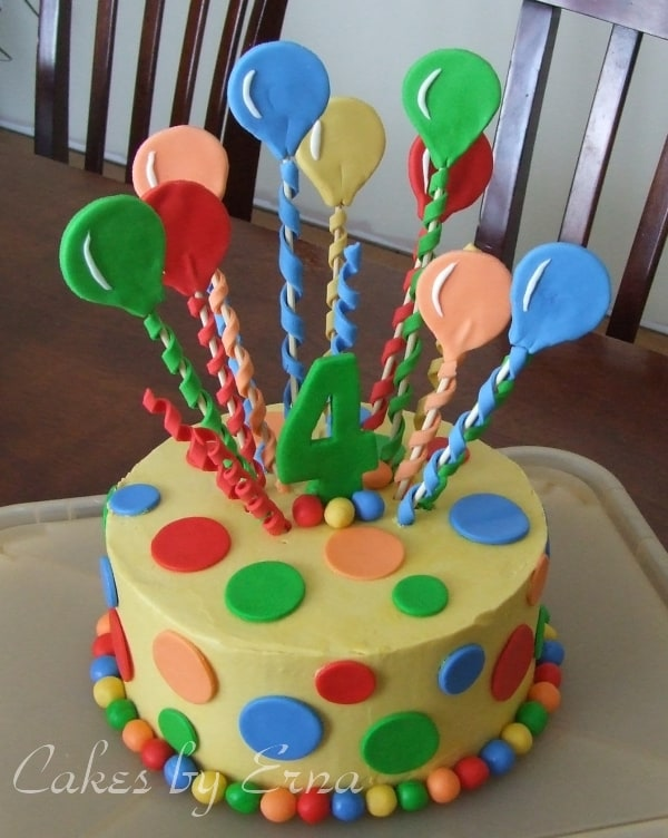 Balloon cake mommy moment for Balloon cake decoration