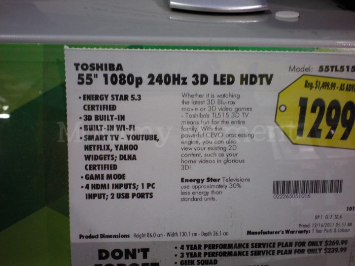 Toshiba Passive 3D TL515 series : Mommy Moment