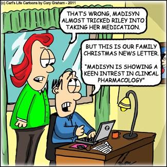 Christmas Letter {Cartoon}
