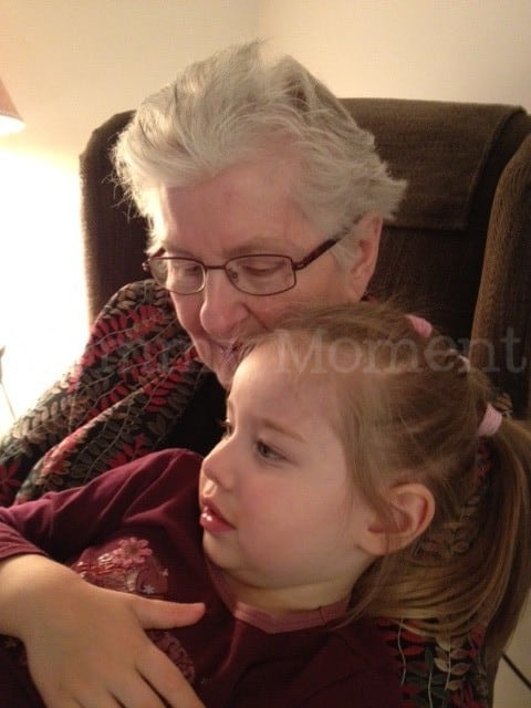 Cuddles with Grammy ~ Wordless Wednesday with Linky
