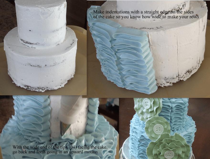 How To Make Circle Ruffles On A Cake