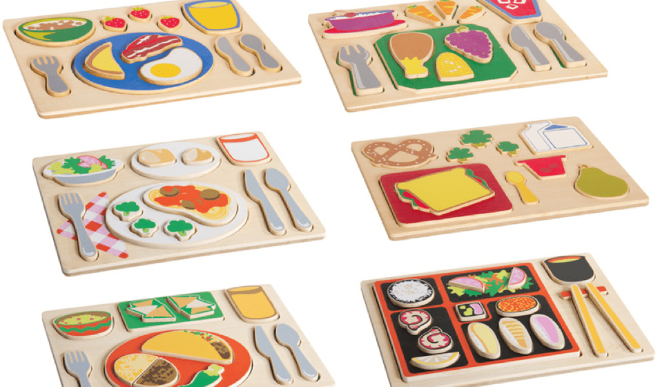 Guidecraft Sorting Food Tray Puzzles #Giveaway