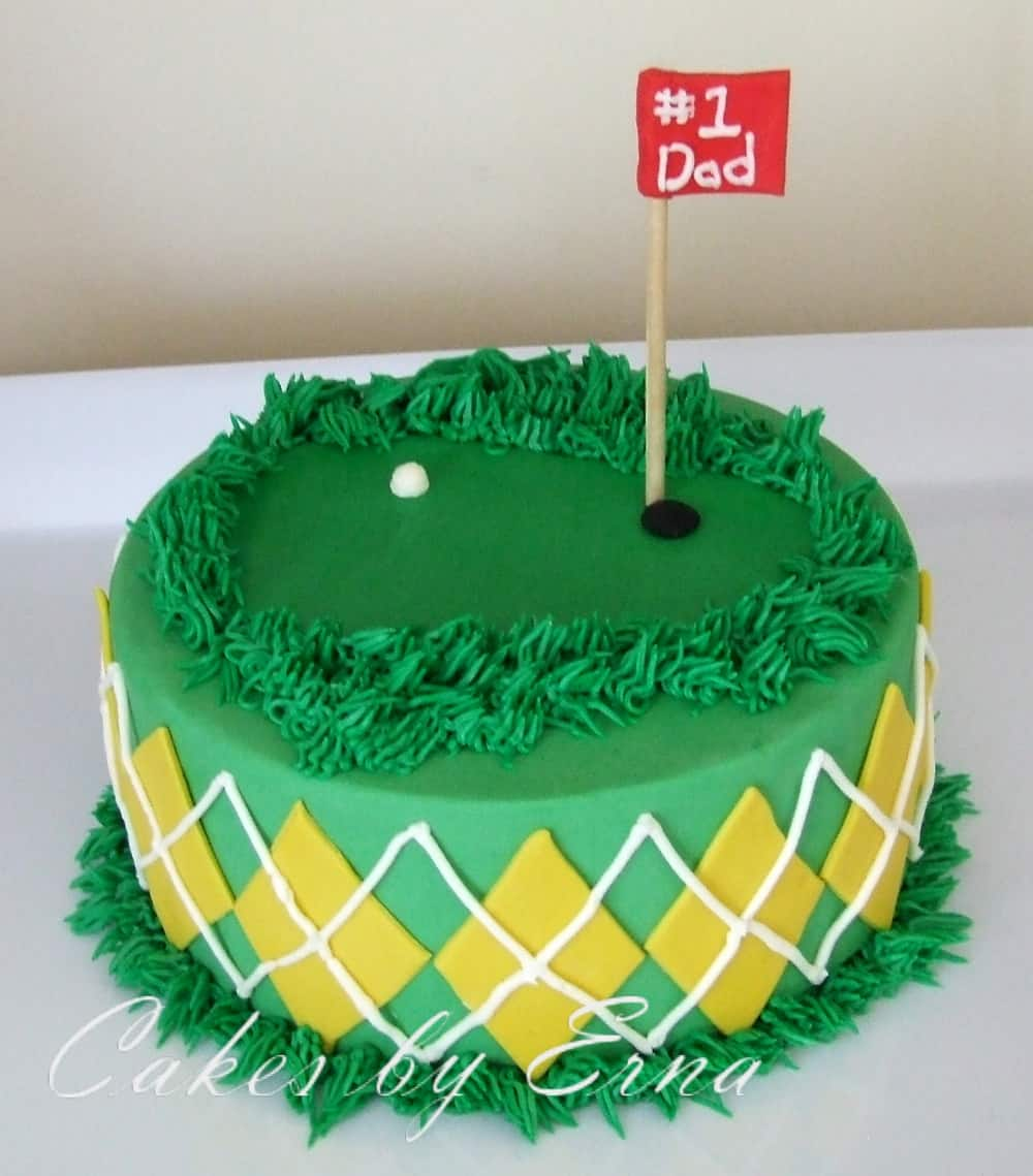 Fathers Day Golf Cake Mommy Moment