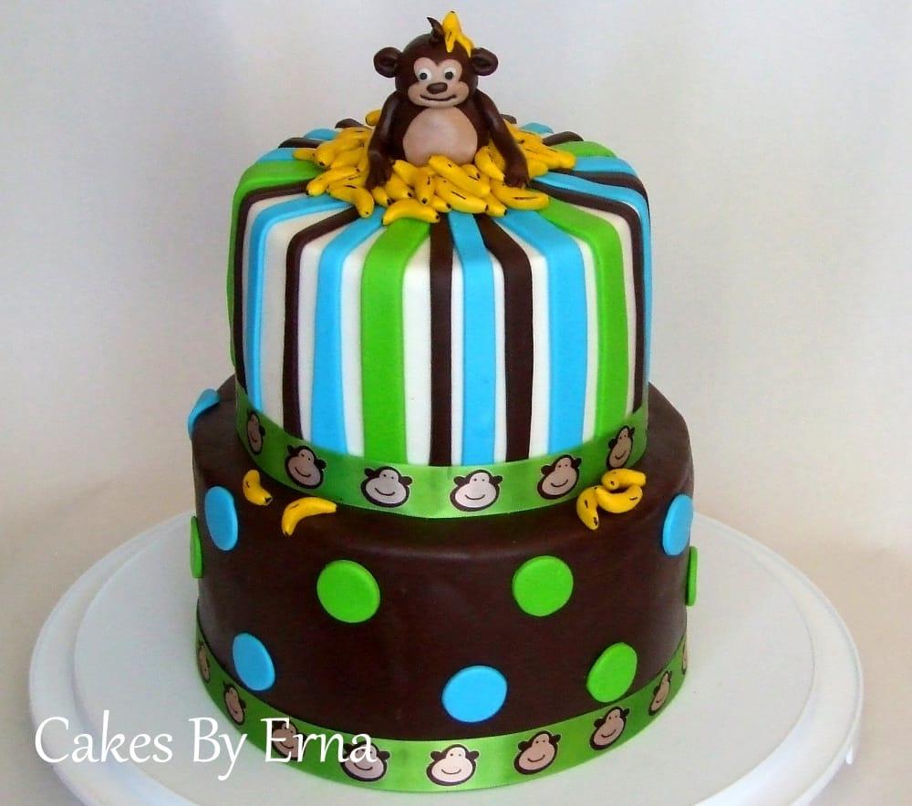 You'll go Banana's over this adorable Monkey Birthday Cake!