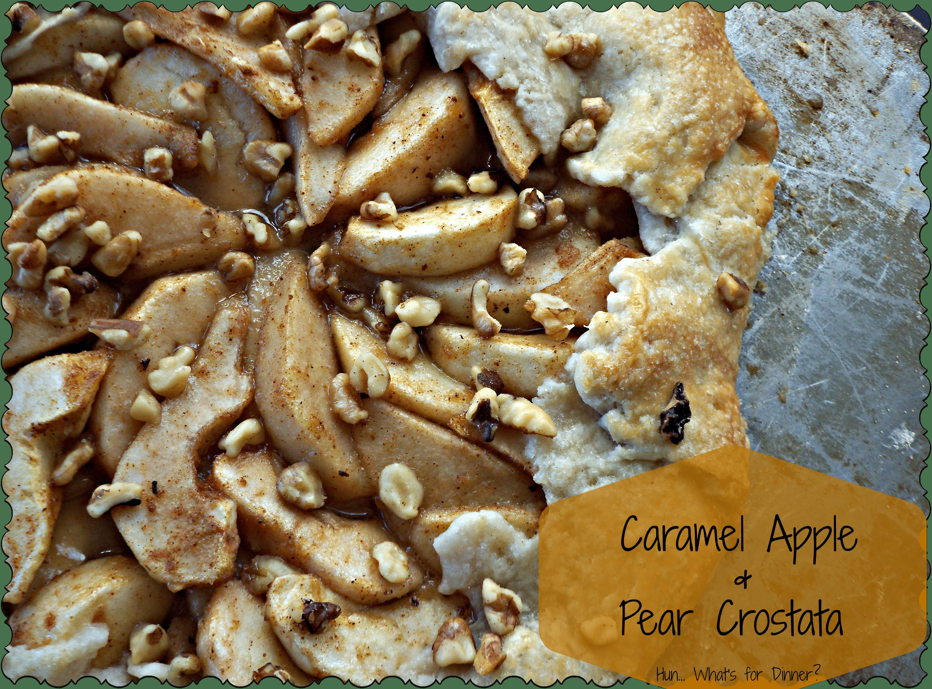 Caramel Apple and Pear Crostata #recipe