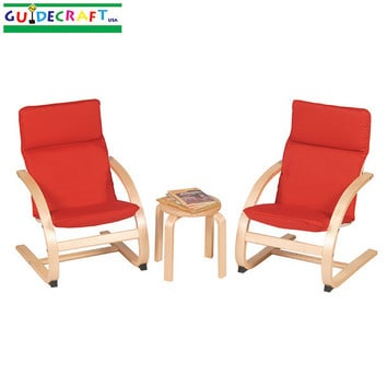 Create a Cozy Reading Area with @Guidecraft Kiddie Rocker Chair Set #giveaway {arv $125}