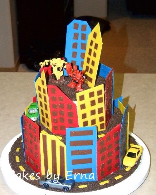 A Robot City Birthday Cake!