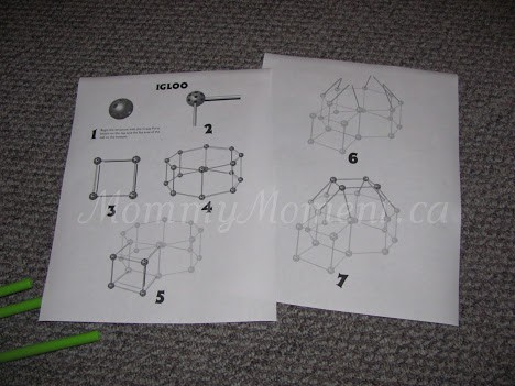 Crazy Forts igloo instructions
