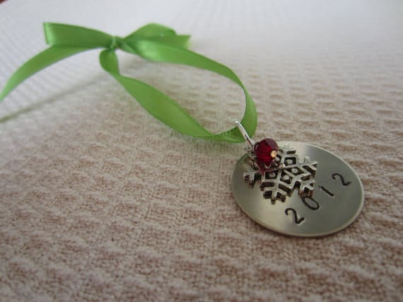 hand stamped ornaments