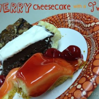 Holiday Desserts & Disasters (and my moms EASY CHERRY CHEESECAKE WITH A TWIST #recipe)  #HealthyFamilies
