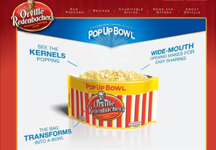 Pop up bowl