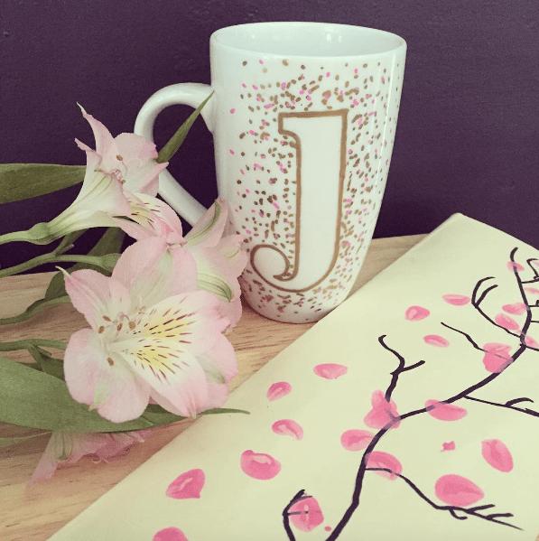 monogram DIY mug gift