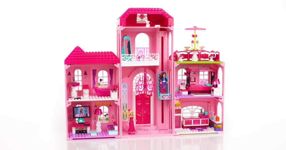 Barbie mega bloks build 39 n style luxury mansion pet shop for Build a dream house
