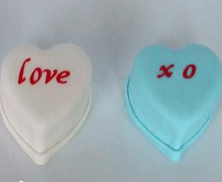 Conversation Hearts Cakes