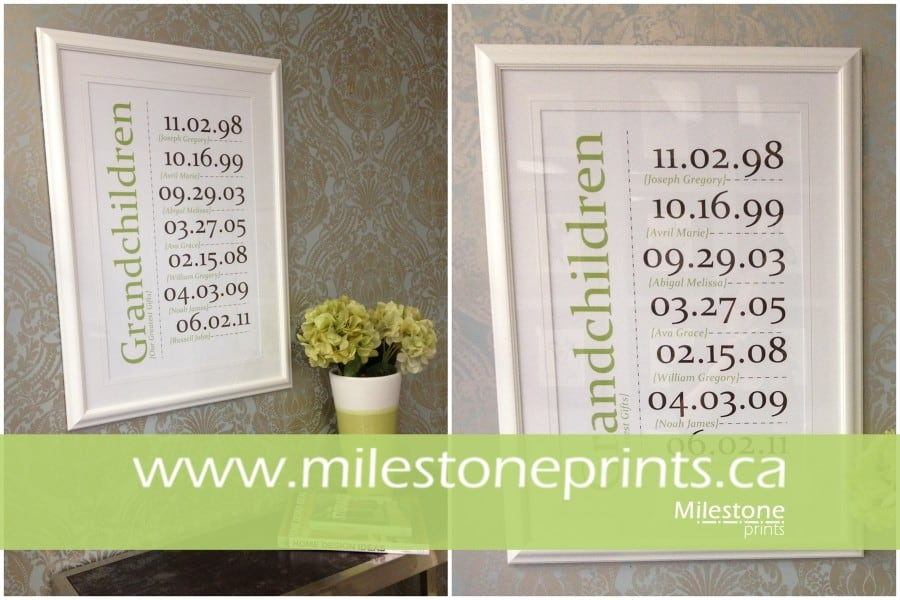 Milestone Prints V Groove mat and Glass