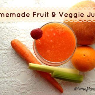 Homemade Fruit and Veggie Juice