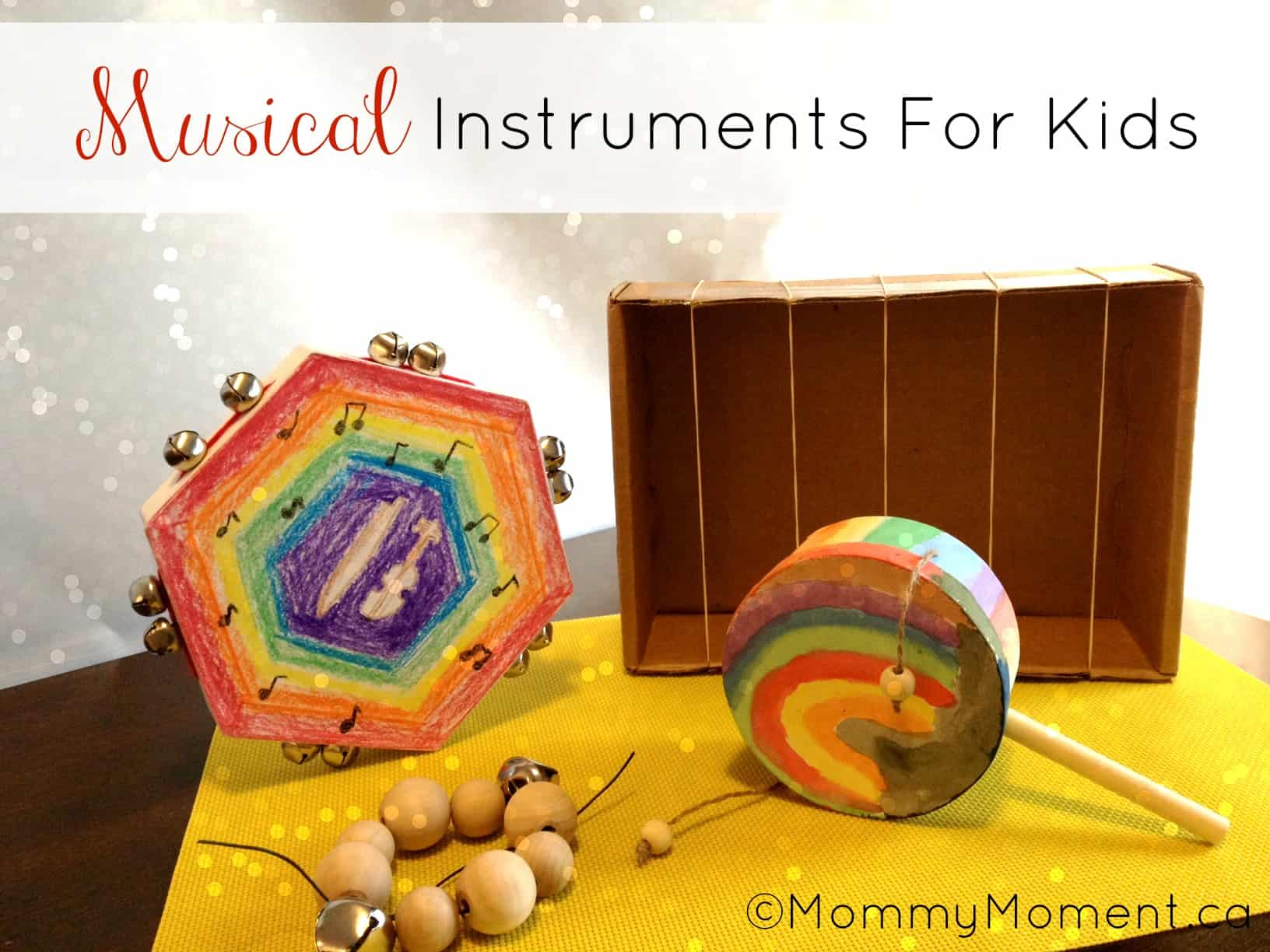 diy musical instruments with green kid crafts mommy moment