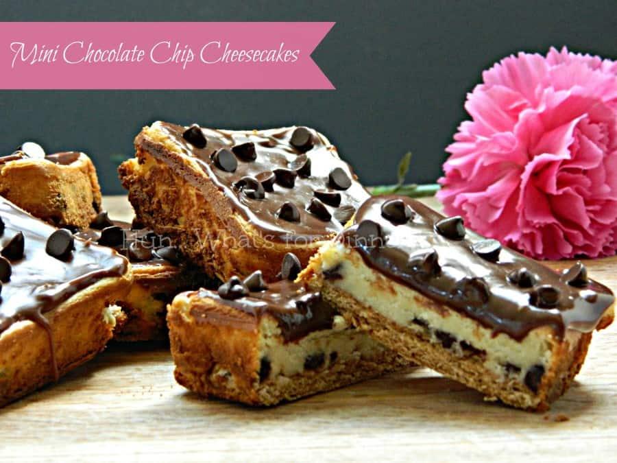 Mini Chocolate Chip Cheesecakes1