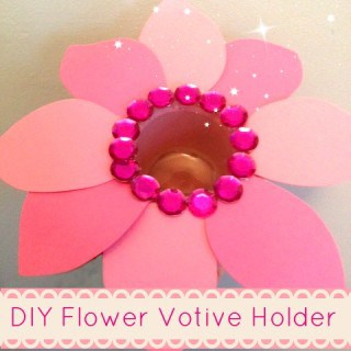 DIY Flower Votive Holder