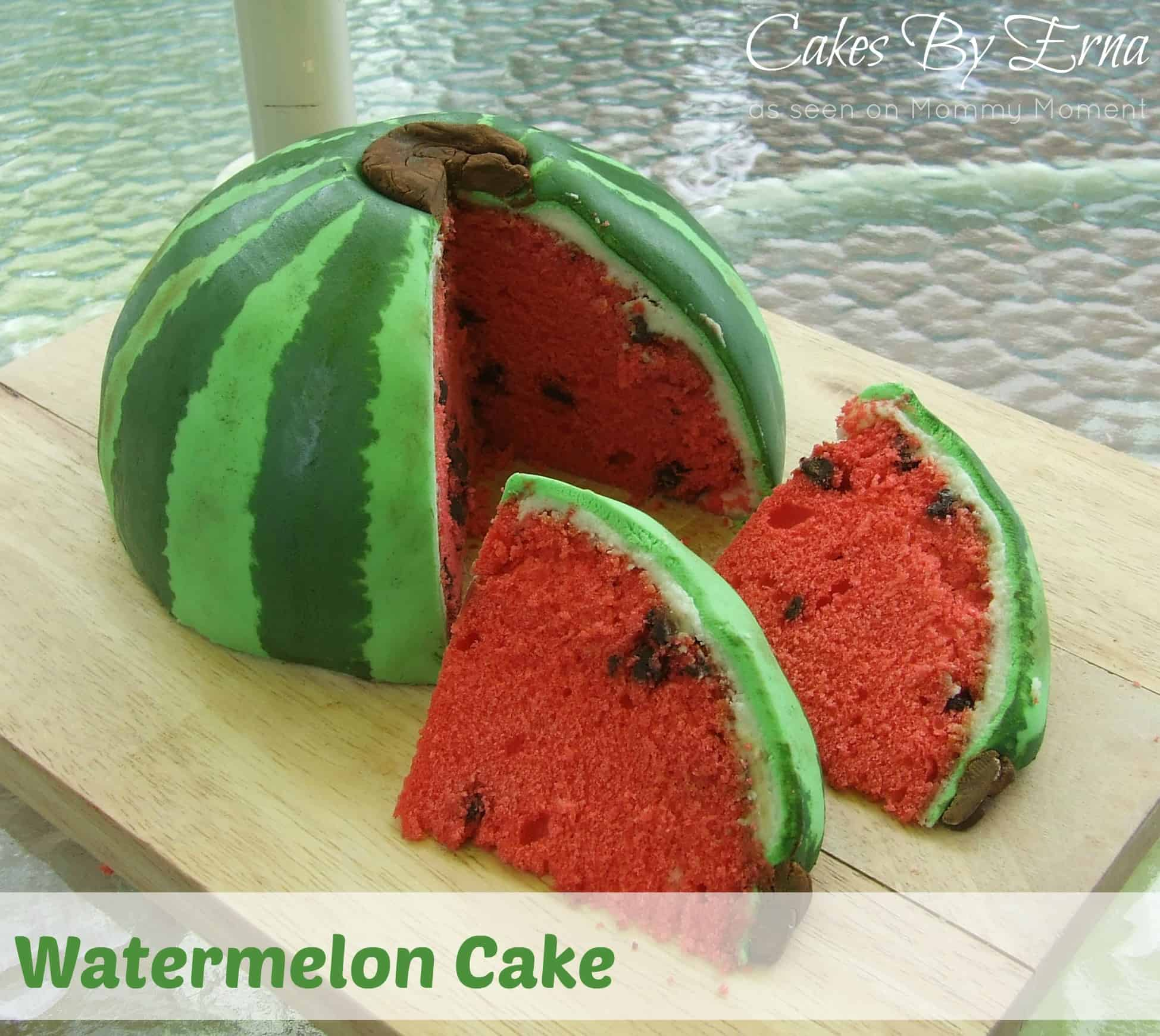 Cut Up Watermelon Cake