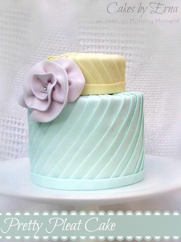 Pretty Pleat Cake