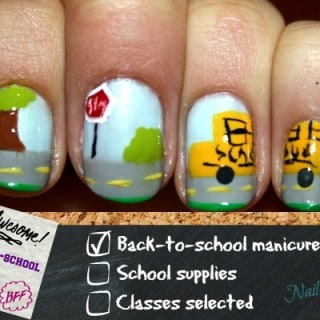 Back To School Manicure with Meg's Nails