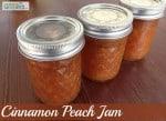 Cinnamon Peach Jam