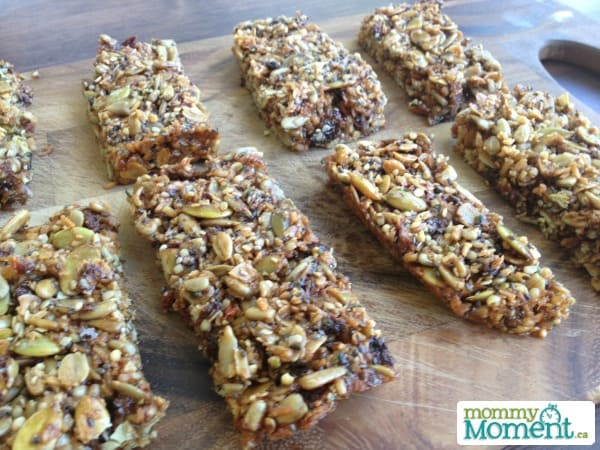 homemade nut free bars that are delicious and perfect for school lunches