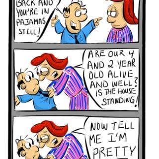 Saturday Pajamas Cartoon