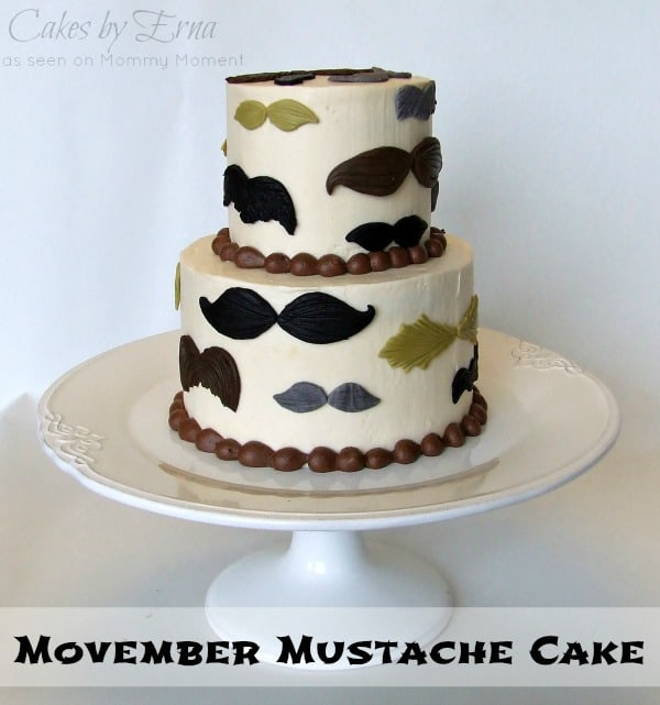 Movember Mustache Cake Cakes by Erna