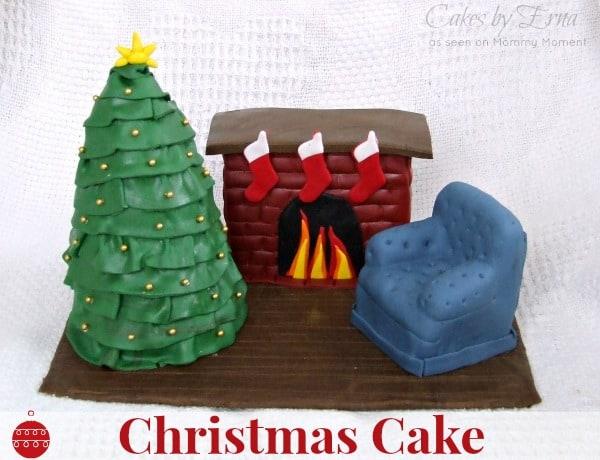Christmas Cake ~ Merry Christmas from #CakesbyErna