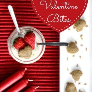 2 ingredient Valentine bites