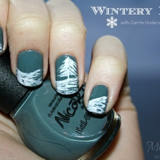 Wintery Nail Art with Carrie Underwood OPI