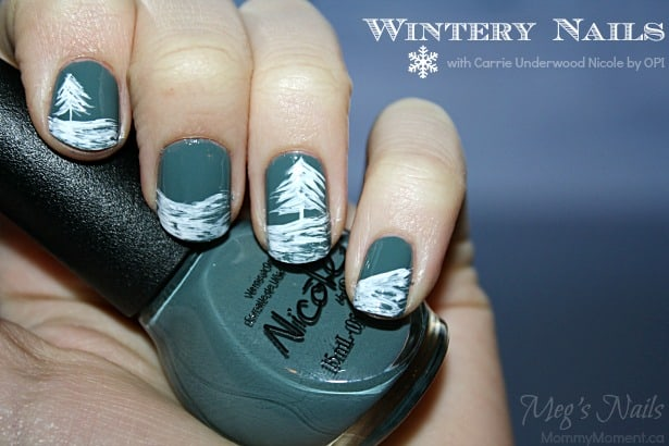 Wintery nail art with carrie underwood opi prinsesfo Images