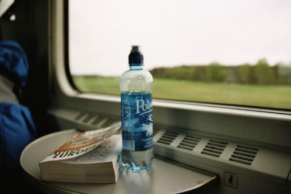 When traveling in Europe, carry a water bottle.