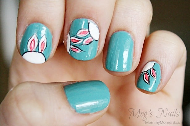 Easter bunny nail art easter bunny nail art 3 prinsesfo Gallery