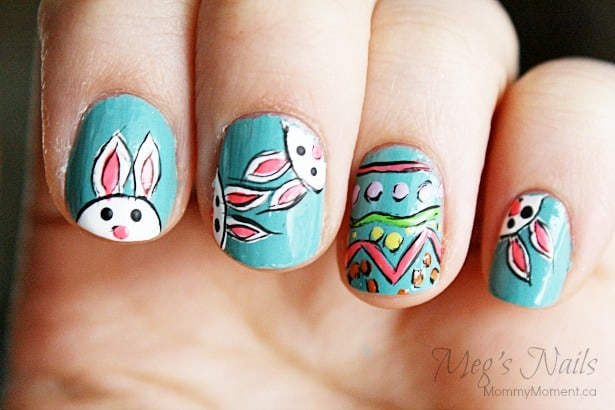 Easter Bunny Nail Art 6
