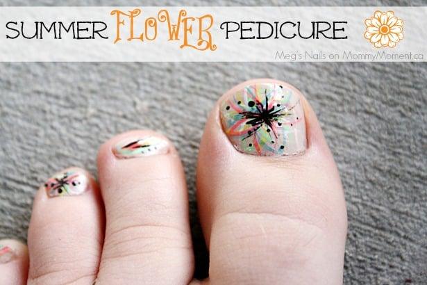 Summer Flower Pedicure