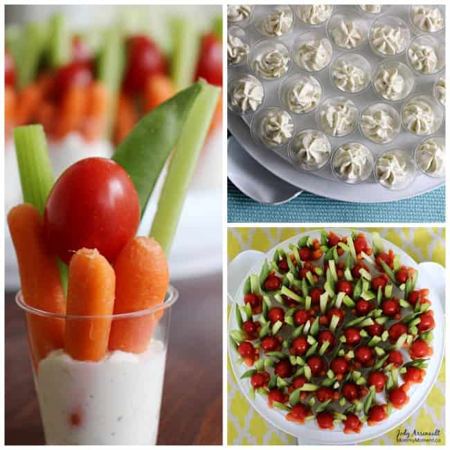 Veggie-dip-collage