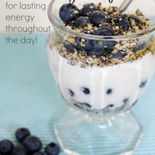 Healthy Blueberry Parfait recipe for lasting energy