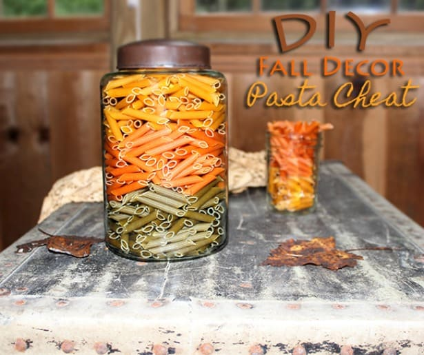 diy fall decor with pasta - Diy Fall Decor