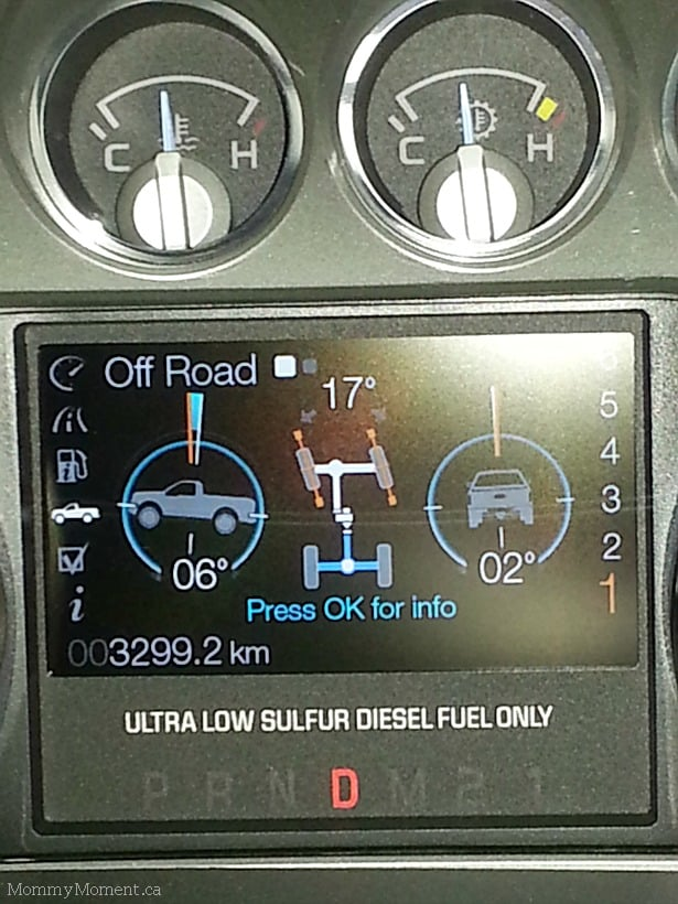 Ford F-350 control panel