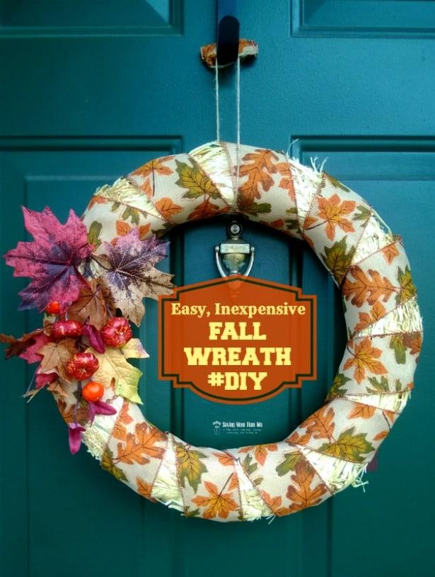 Inexpensive Fall Wreath