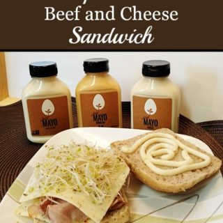 Sprouted Beef and Cheese Sandwich {Just Mayo}