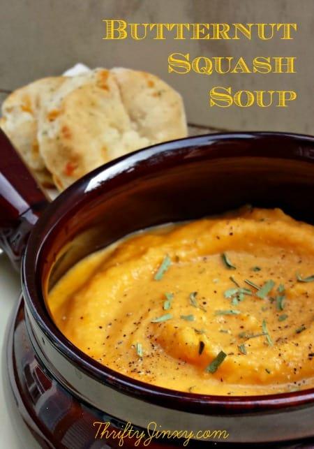Butternut Squash Soup - ThriftyJinxy