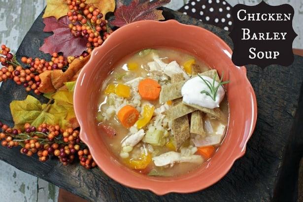 Crock Pot Chicken barley Soup